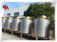 400L Stainless Steel Tank Square High Shear Emulsifying Tank Di Lini Produksi